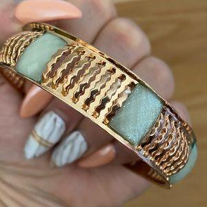 Mint and Copper Bracelet